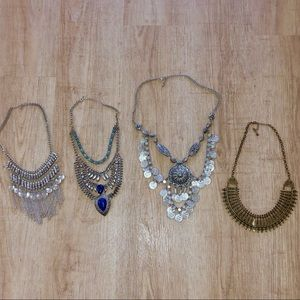 Jewelry - GREAT DEAL! Lot of 4 Statement Necklaces!